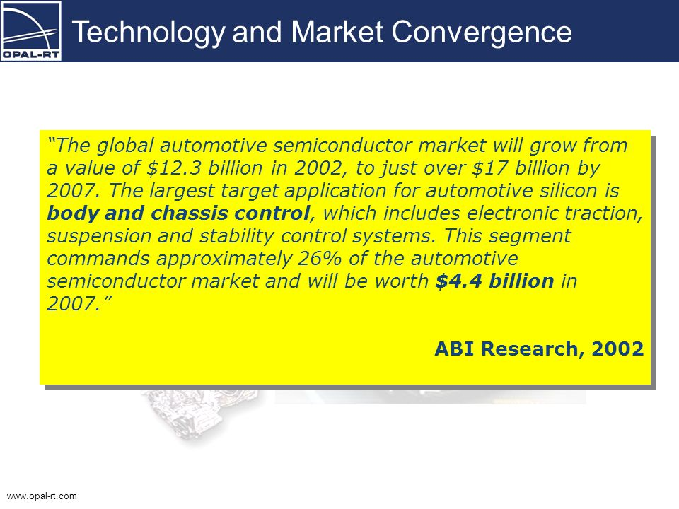 www.opal-rt.com Technology and Market Convergence