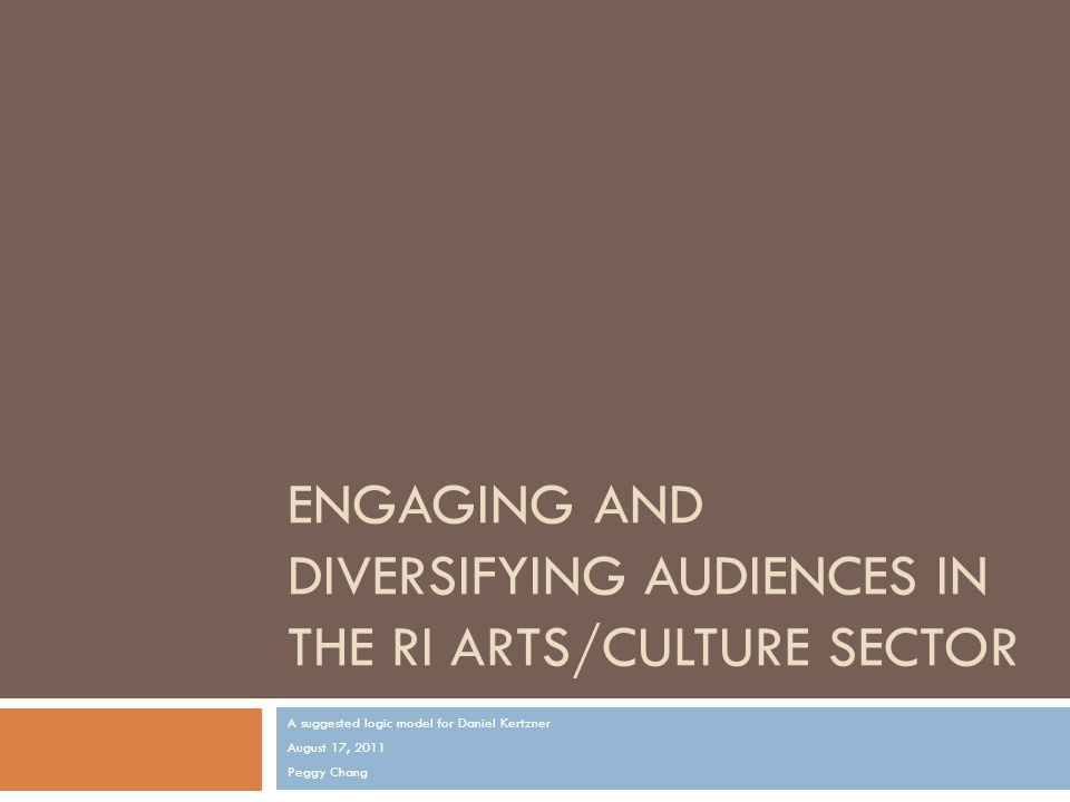 Issue/Problem  Arts/culture attendance in traditional, mainstream venues has decreased, locally and nationally (NEA's 2008 Beyond Attendance report).NEA's 2008 Beyond Attendance report  Smaller, culturally-specific arts/culture nonprofits are especially vulnerable in this volatile economy.
