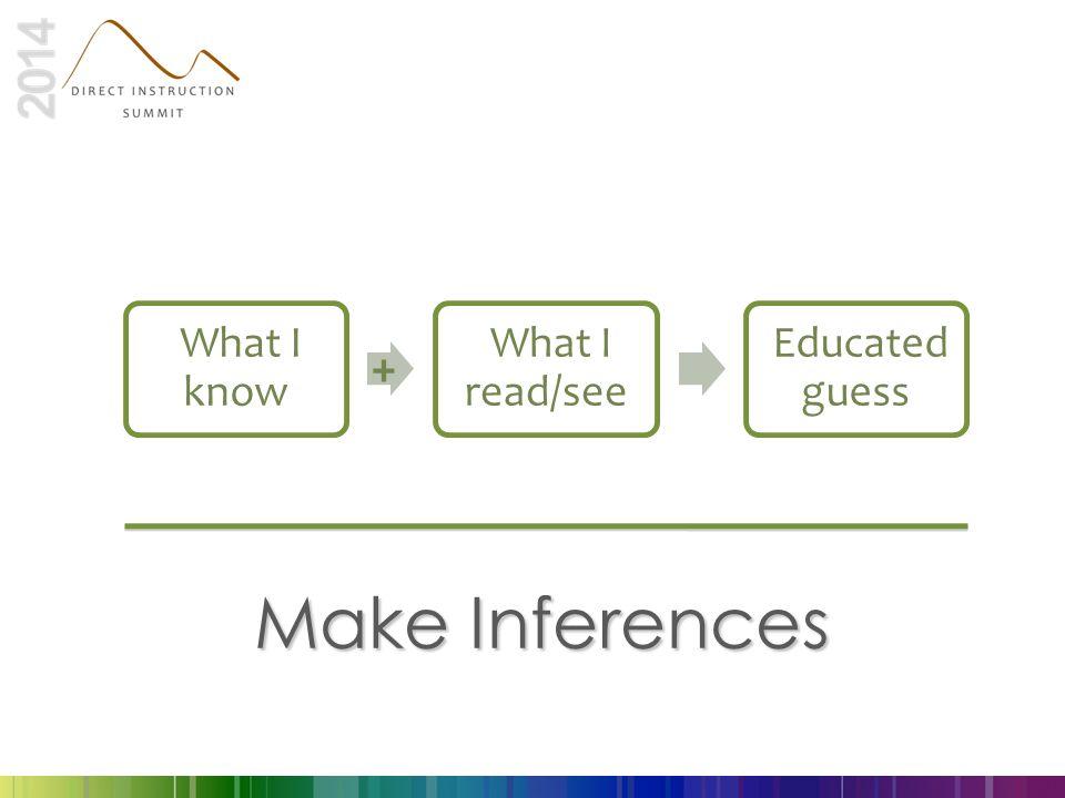 Make Inferences