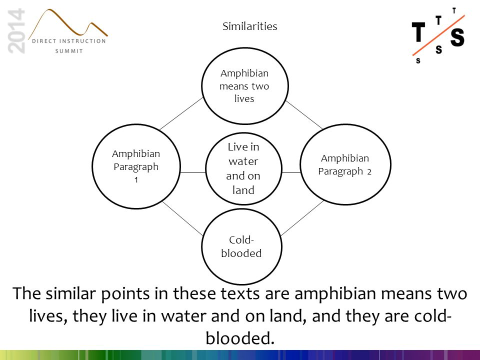 Amphibian Paragraph 1 Amphibian Paragraph 2 Amphibian means two lives Live in water and on land Cold- blooded Similarities The similar points in these