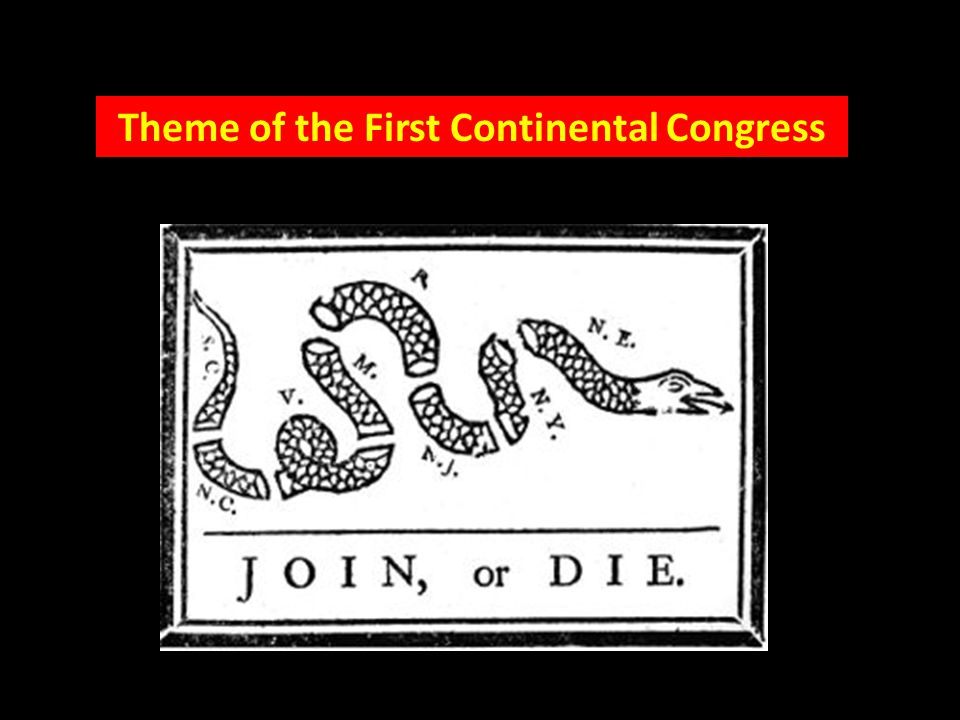 Theme of the First Continental Congress