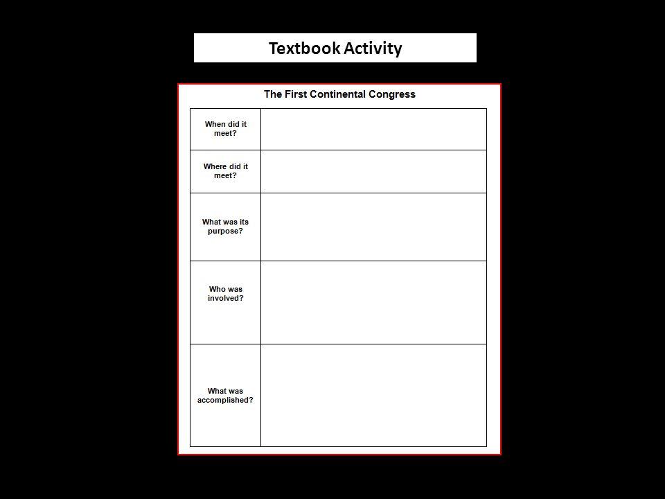 Textbook Activity