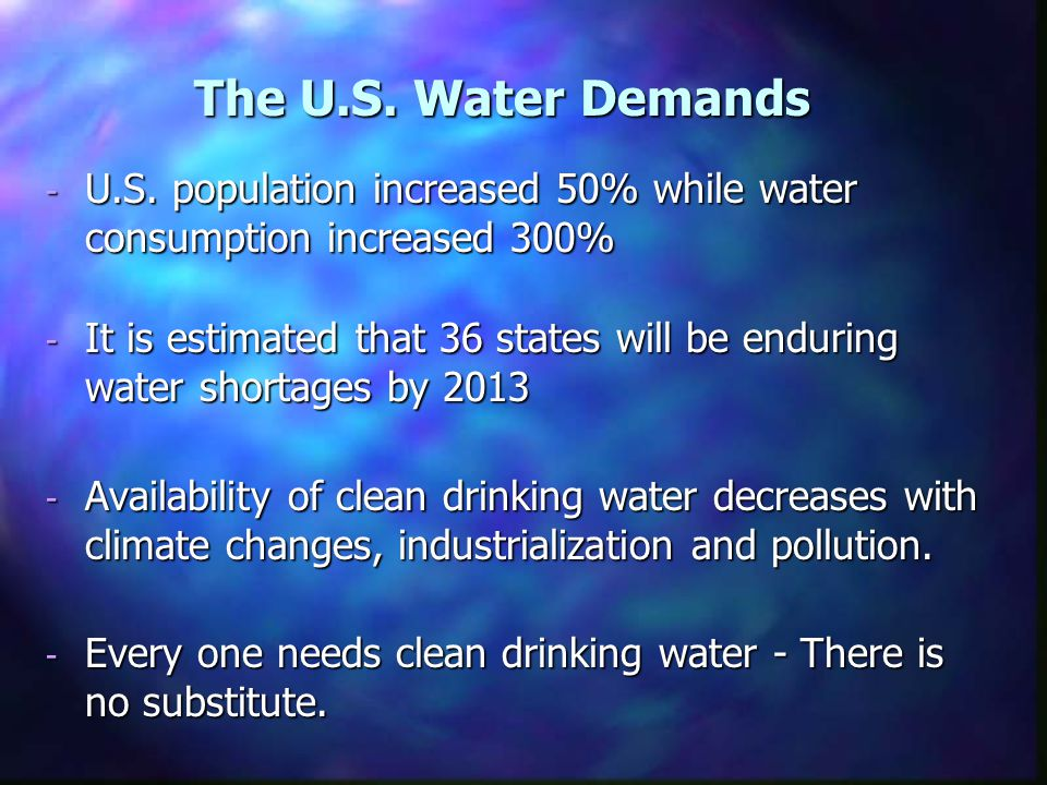 The U.S. Water Demands - U.S.