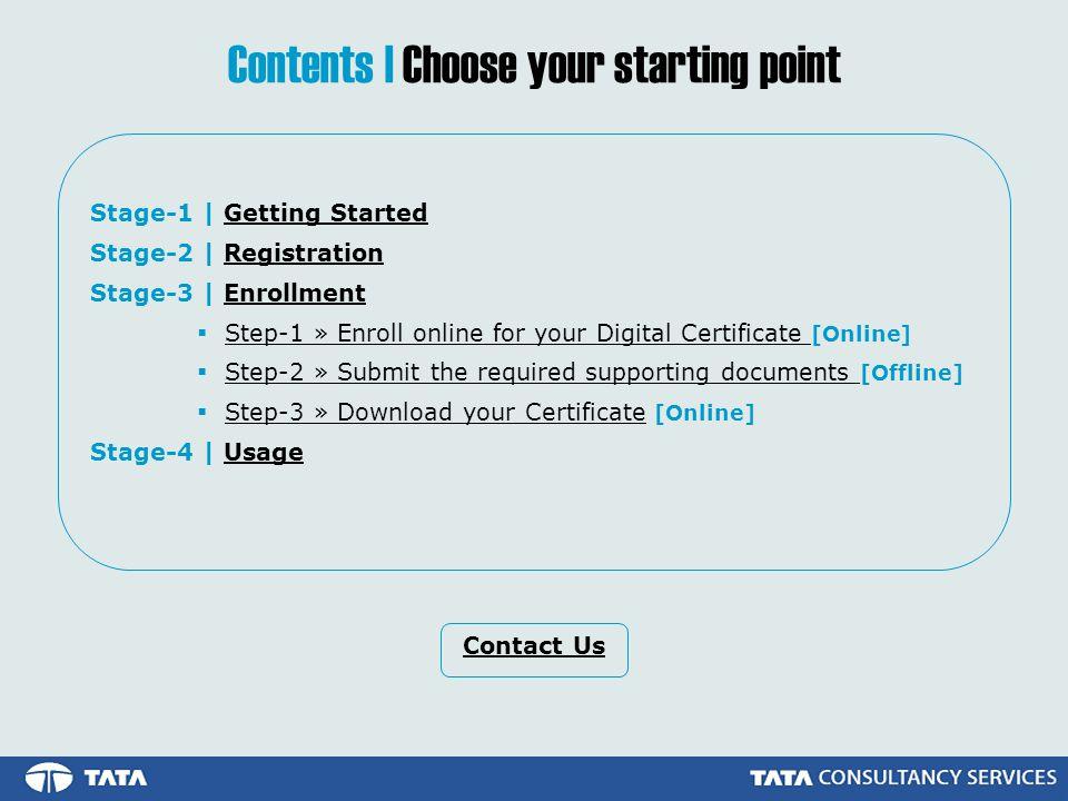 Stage-3 | Enrollment Enroll for your Digital Certificate