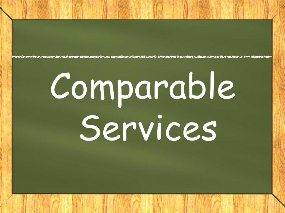 Comparable Services