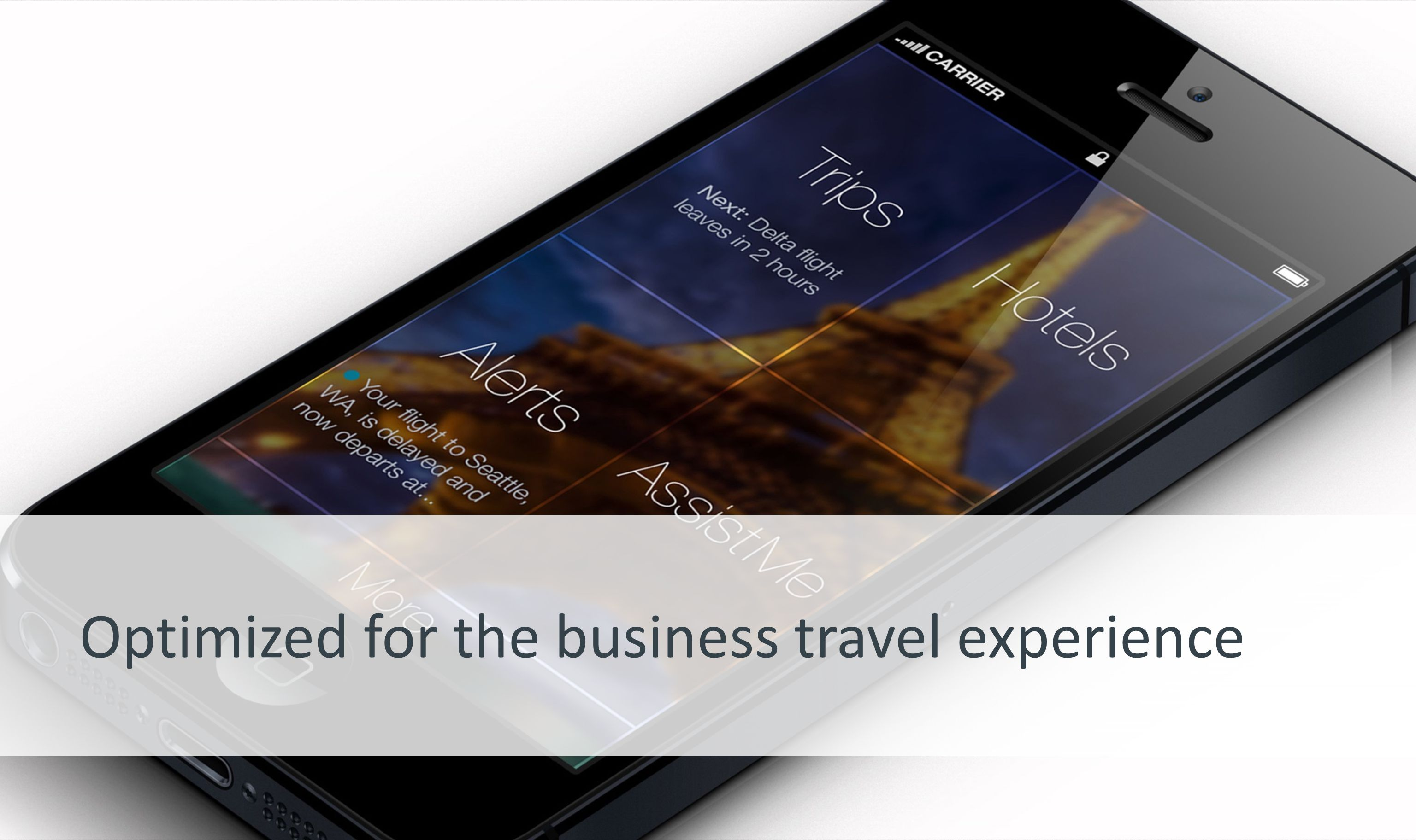 Page 5 | Confidential Optimized for the business travel experience