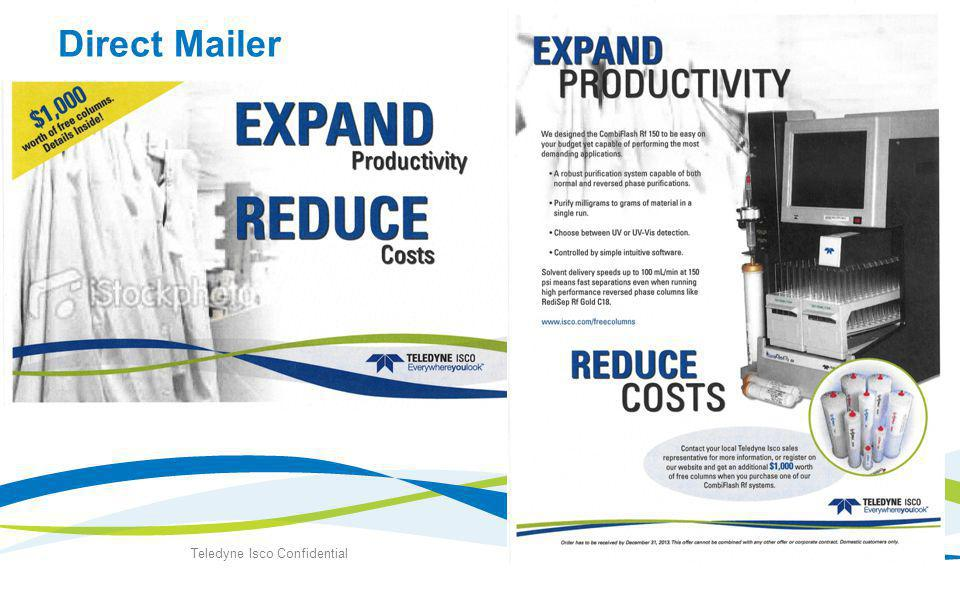 Direct Mailer Teledyne Isco Confidential 6