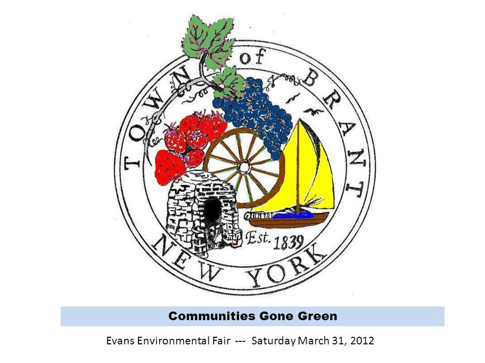 Communities Gone Green Evans Environmental Fair --- Saturday March 31, 2012
