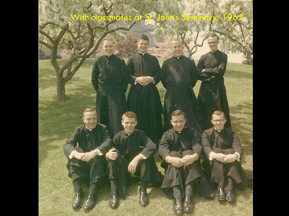 At St. John's Seminary, Brighton, MA 1961