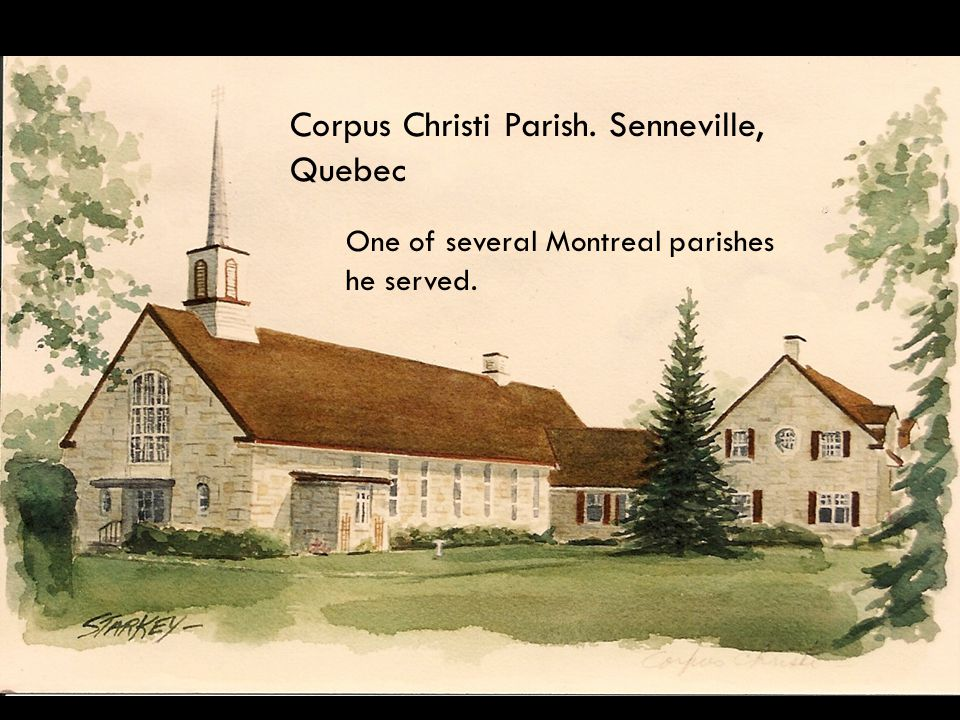 High School Chaplain, Transfiguration Parish, Montreal