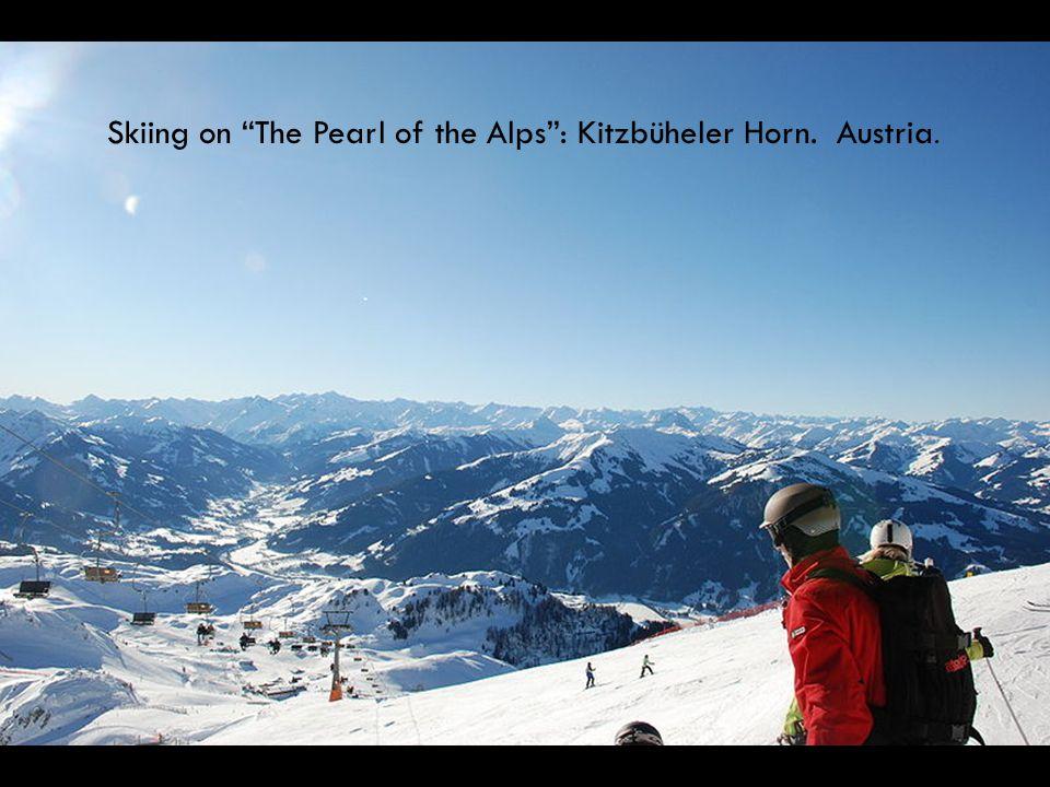 Skiing on The Pearl of the Alps : Kitzbüheler Horn. Austria.