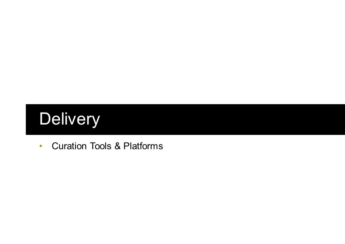 Delivery Curation Tools & Platforms