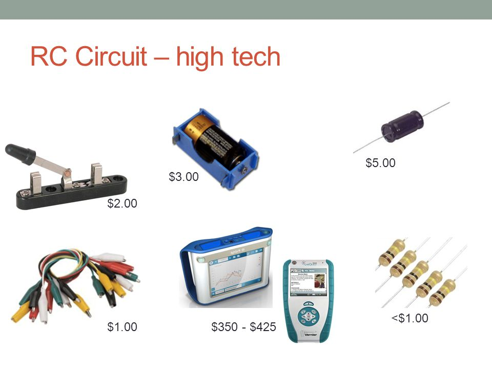 RC Circuit – high tech $1.00 $2.00 $3.00 $5.00 <$1.00 $350 - $425