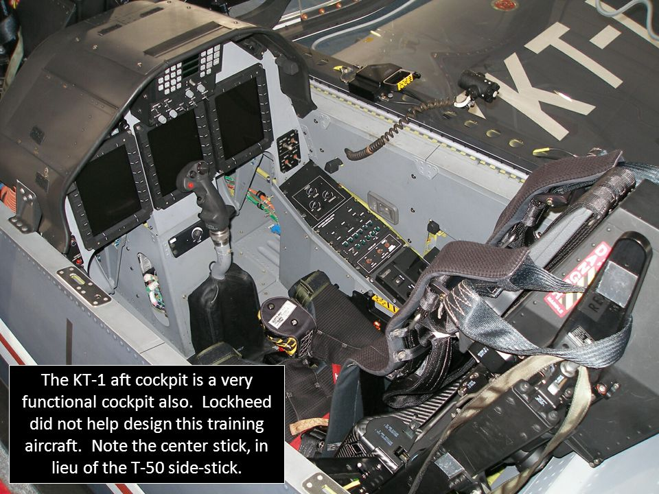 The KT-1 aft cockpit is a very functional cockpit also.