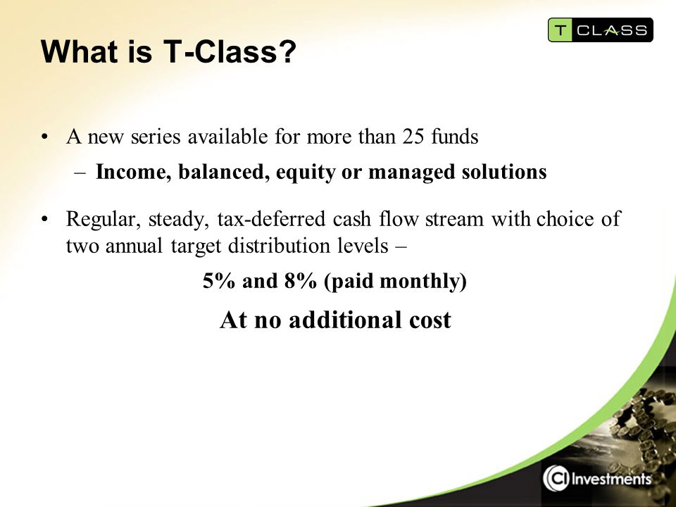What is T-Class.