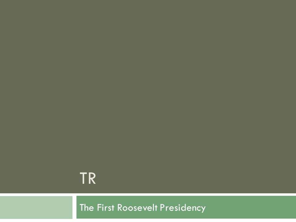 TR The First Roosevelt Presidency