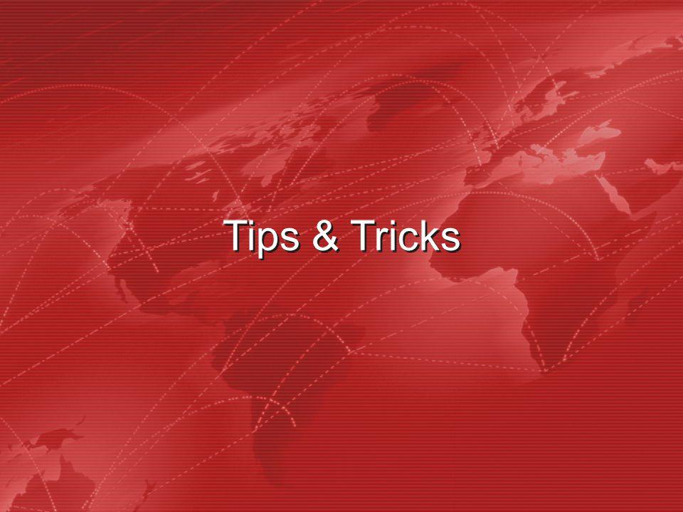 39 Tips & Tricks