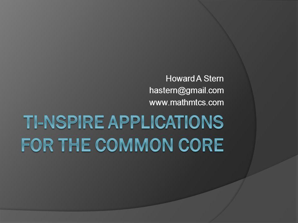 Howard A Stern hastern@gmail.com www.mathmtcs.com