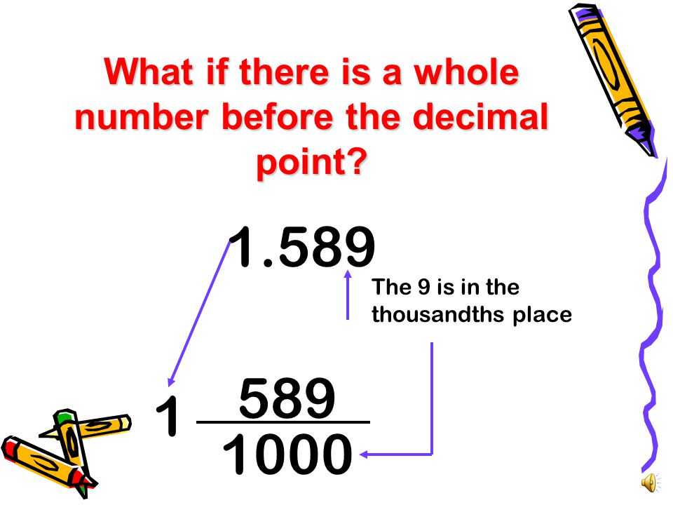 How to Convert Decimals to Fractions.84 The 4 is in the hundredths place