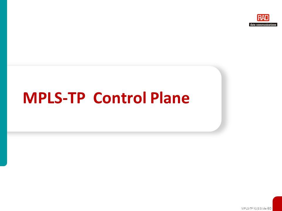 MPLS-TP Y(J)S Slide 60 MPLS-TP Control Plane