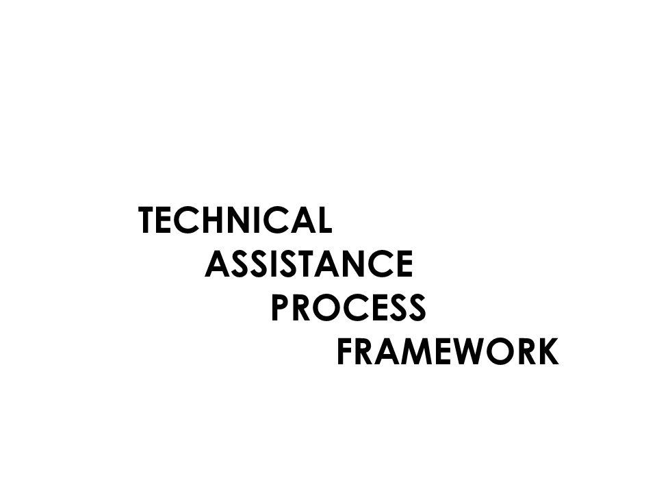 TECHNICAL ASSISTANCE PROCESS FRAMEWORK