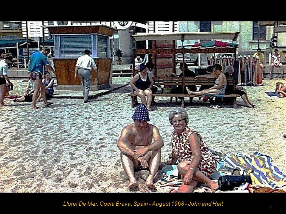 Lloret De Mar, Costa Brava, Spain - August 1968 - John and Hett 2