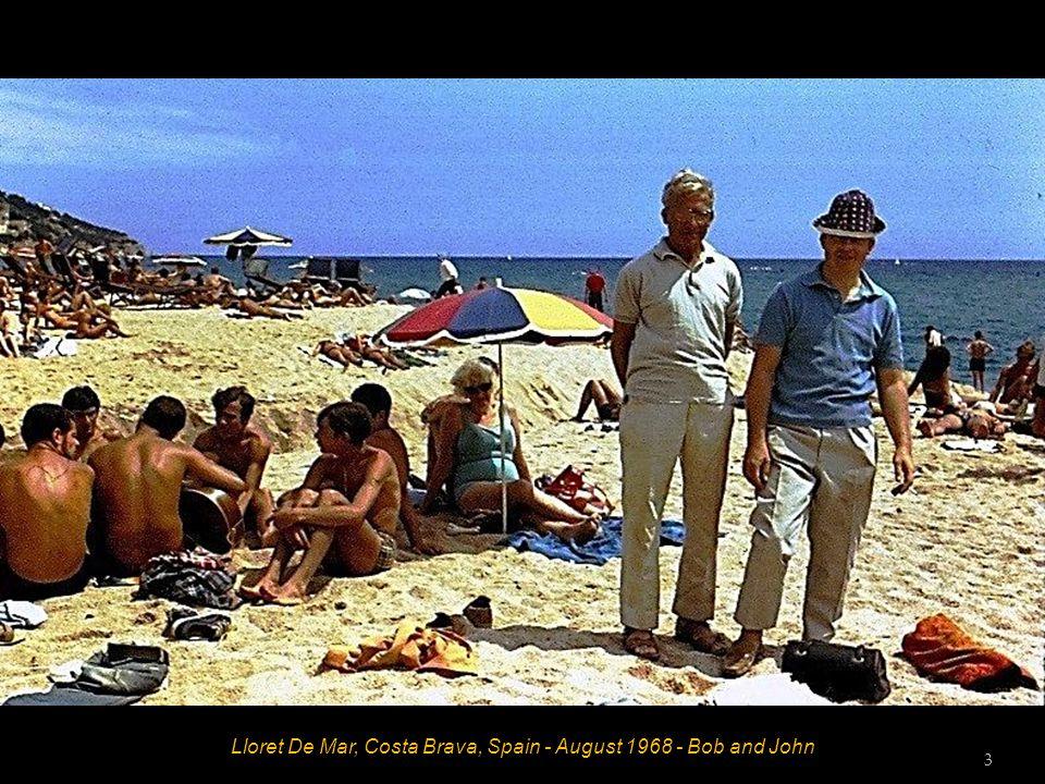 Lloret De Mar, Costa Brava, Spain - August 1968 - Bob and John 3