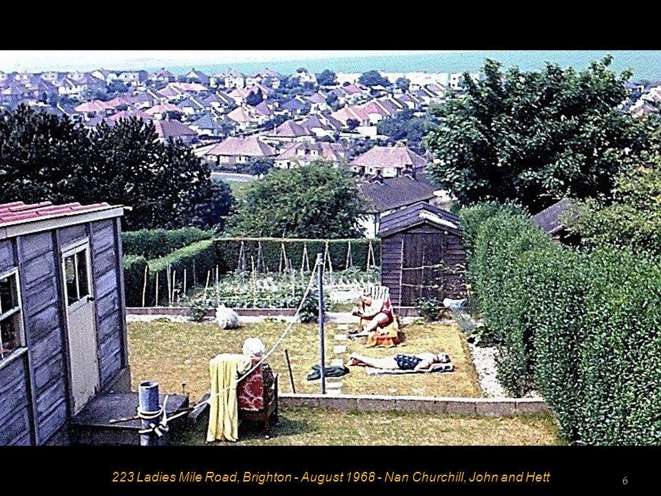 223 Ladies Mile Road, Brighton - August 1968 - Nan Churchill, John and Hett 6