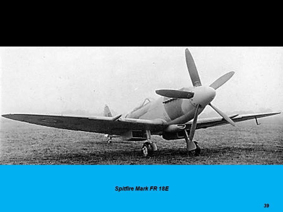 Spitfire Mark FR 18E 38