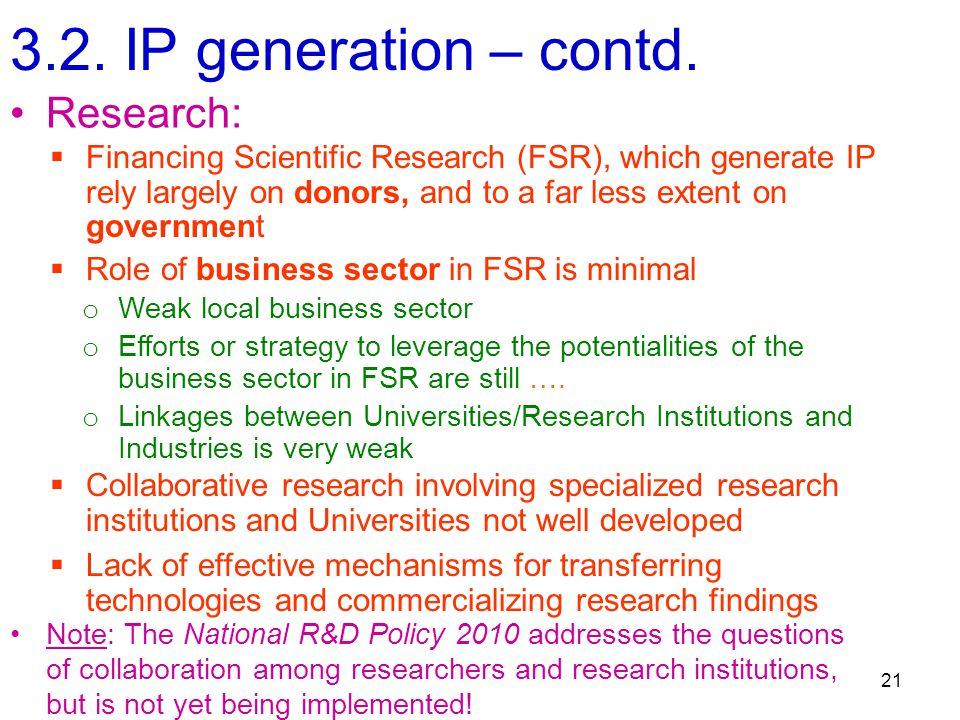 3.2. IP generation – contd.