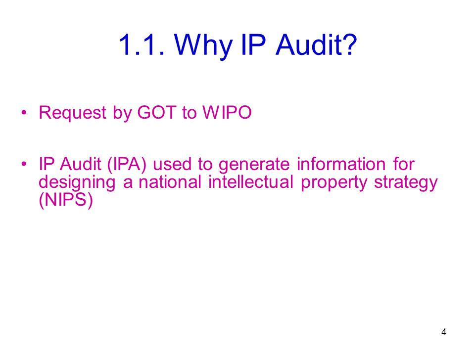 1.1. Why IP Audit.