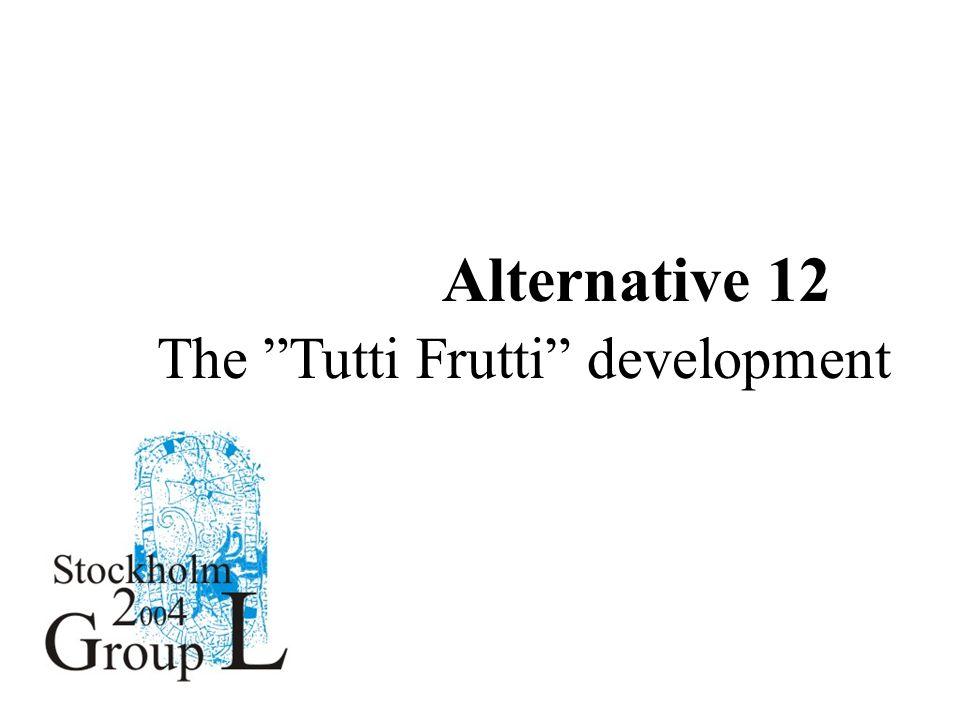 Description of AlternativesAlternative 12 The Tutti Frutti development