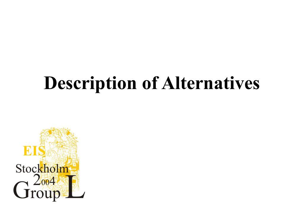 EIS Description of Alternatives