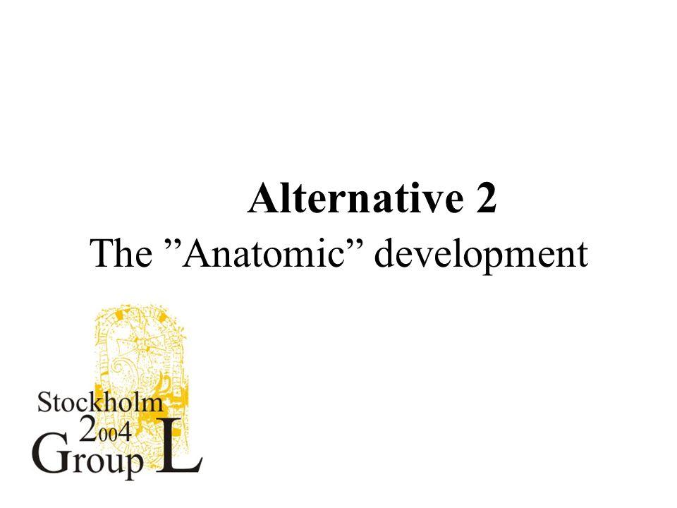 Alternative 2 The Anatomic development