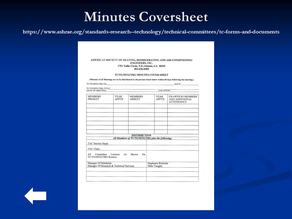 Minutes Coversheet