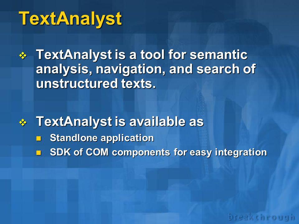 TextAnalyst * Overview *  Microsystems Ltd., a Megaputer business partner.