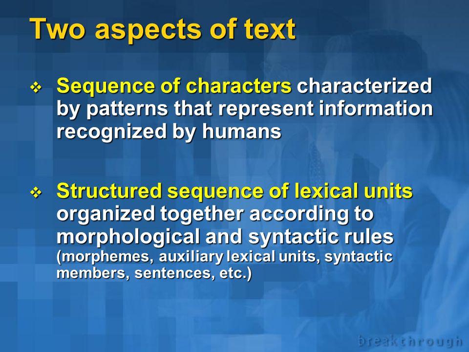 Appendix A TextAnalyst technology details