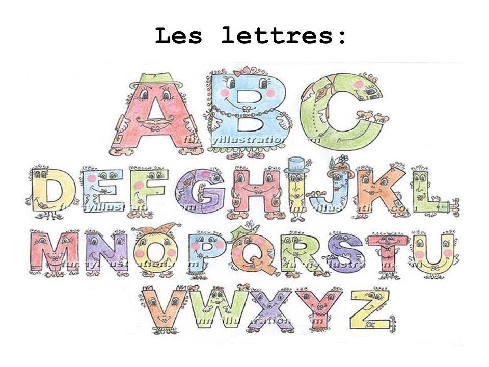 Les lettres: