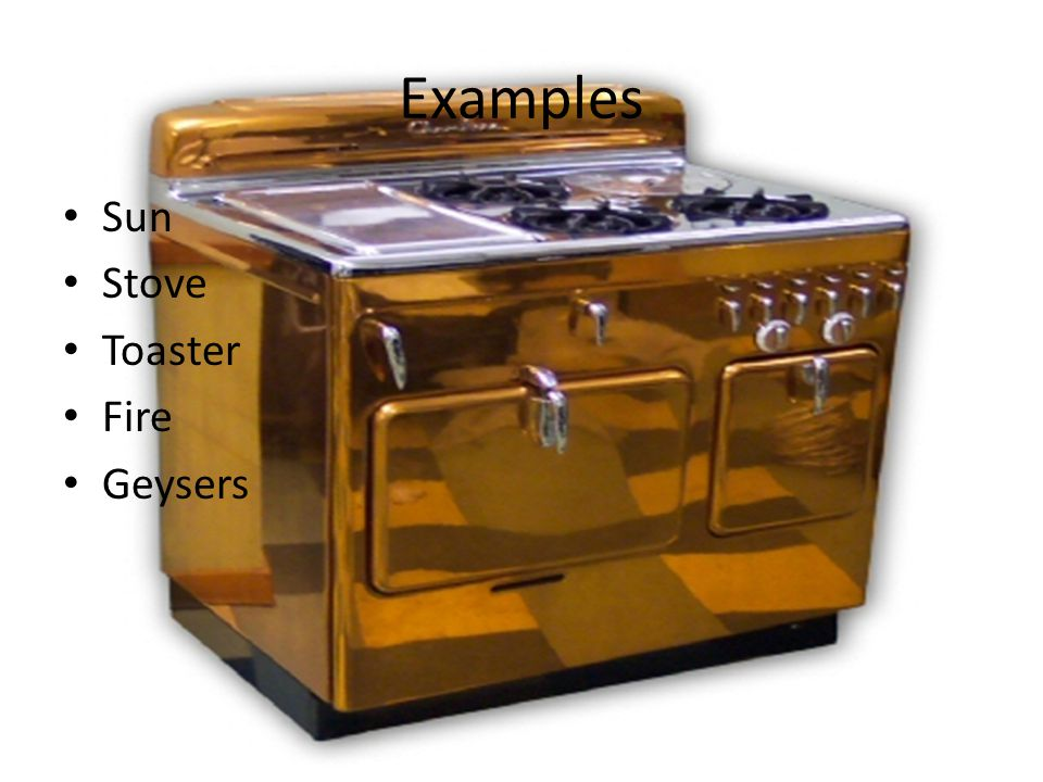 Examples Sun Stove Toaster Fire Geysers