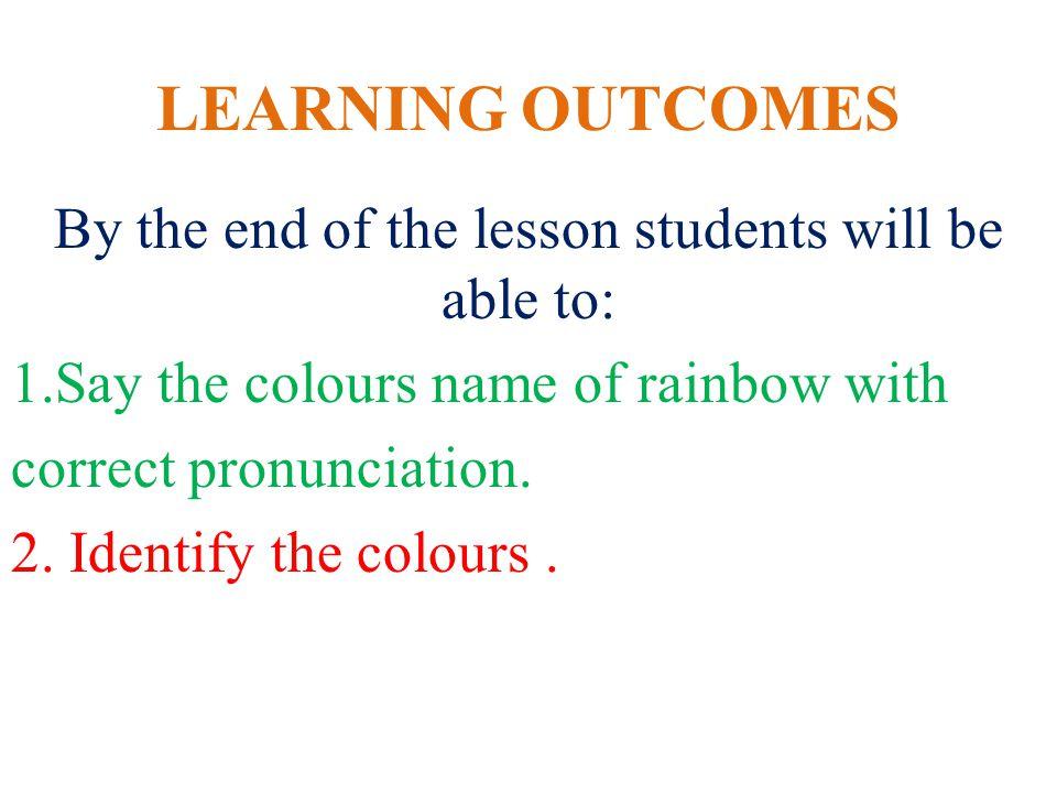 Pronunciation Violet - indigo - blue- Green- orange- red-
