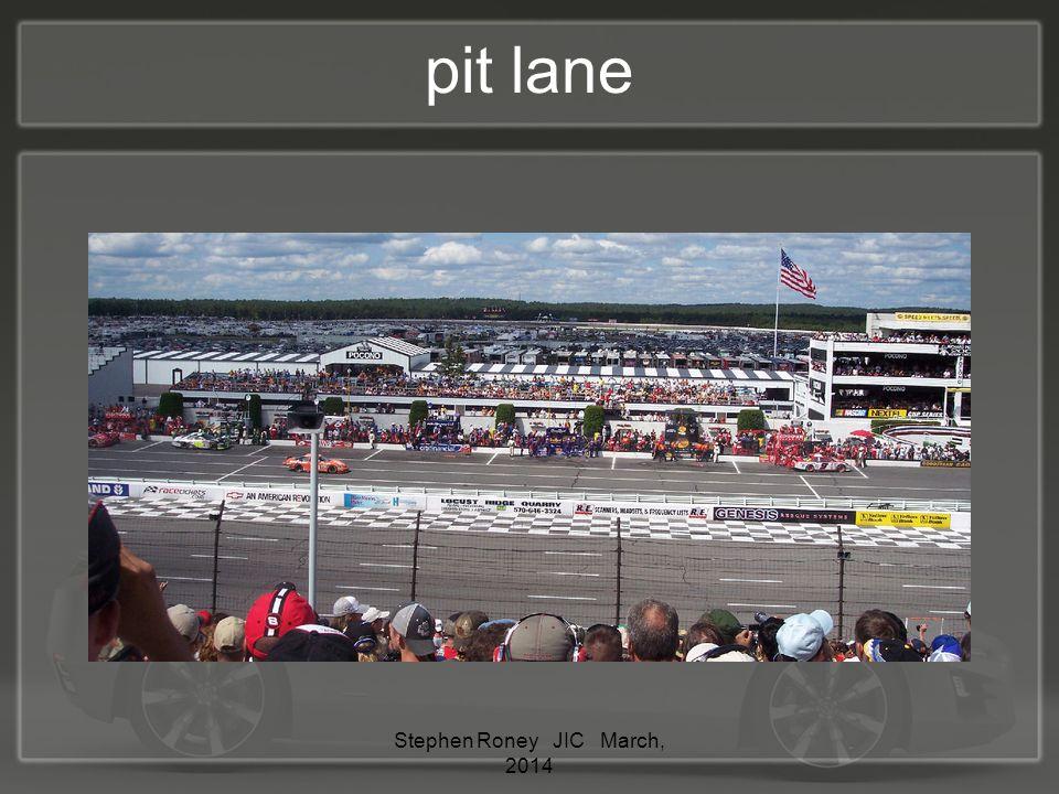 pit lane Stephen Roney JIC March, 2014