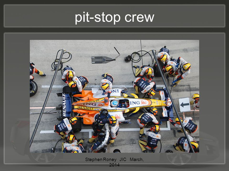 pit-stop crew Stephen Roney JIC March, 2014