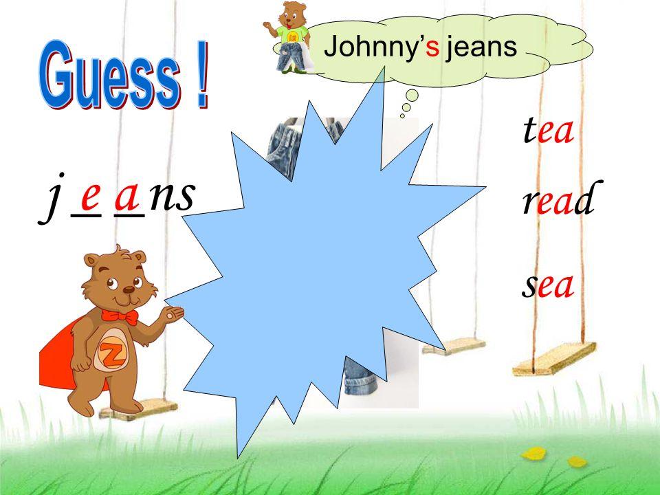 j _ _ns tea read sea e a Johnny's jeans