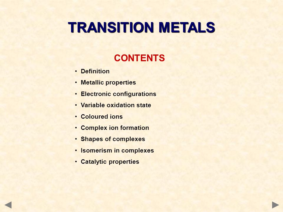 Before you start it would be helpful to… Recall the definition of a co-ordinate (dative covalent) bond Recall how to predict the shapes of simple molecules and ions TRANSITION METALS