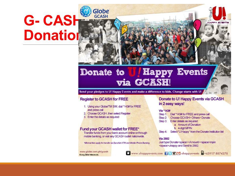 G- CASH Donation