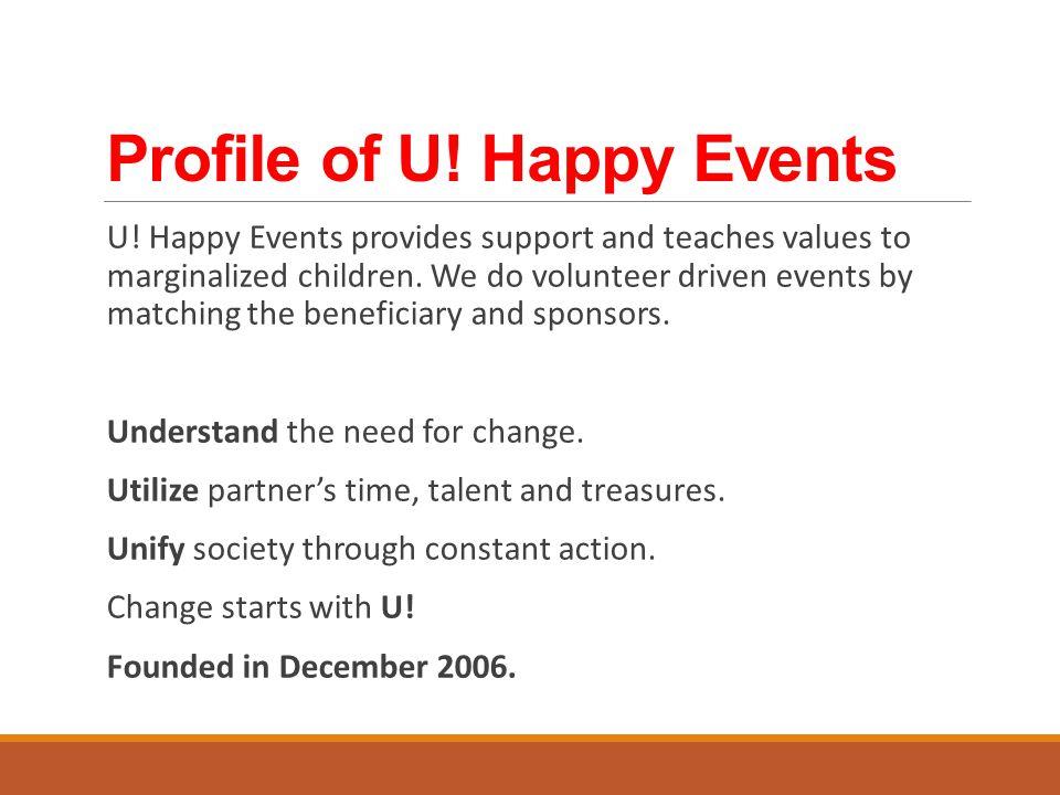 Profile of U. Happy Events U.