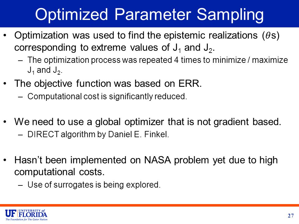 Optimized Parameter Sampling 27