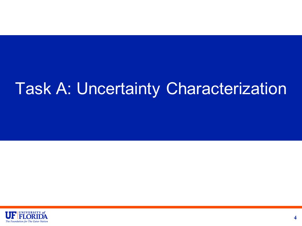 Task A: Uncertainty Characterization 4