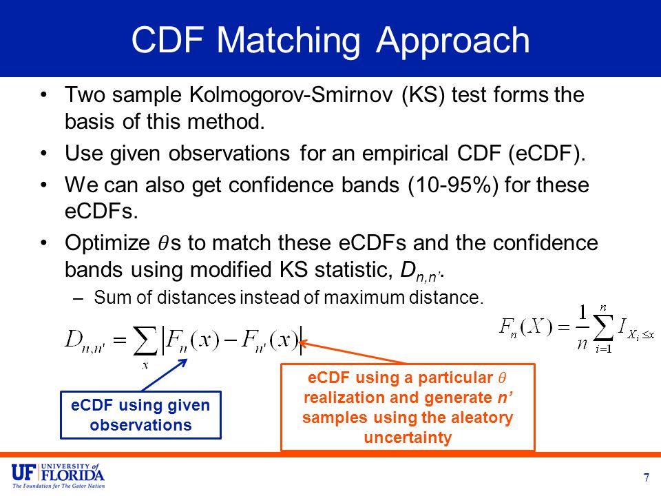 CDF Matching Approach 8 DIRECT optimizer is used (Finkel et al.)