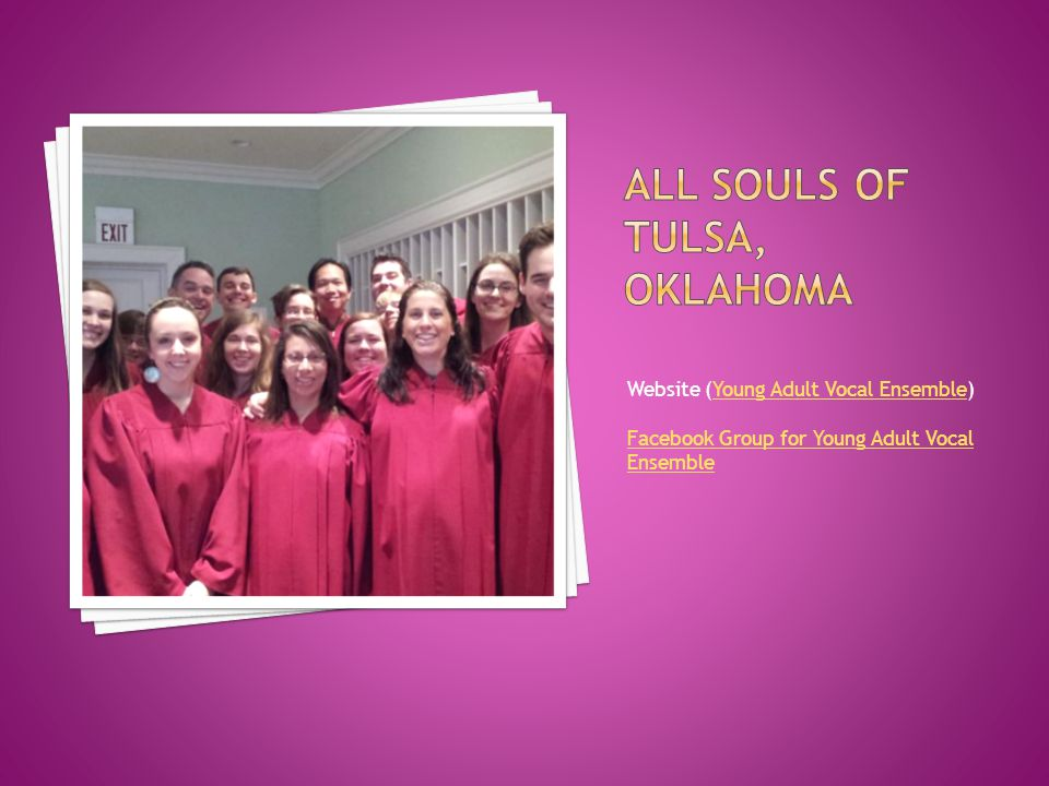 Website (Young Adult Vocal Ensemble)Young Adult Vocal Ensemble Facebook Group for Young Adult Vocal Ensemble